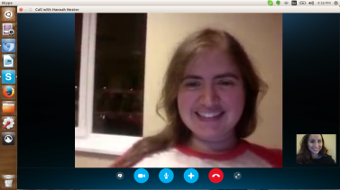 skyping with hannah